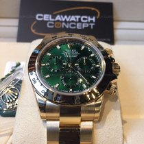 Rolex Cosmograph Daytona Yellow Gold Green Dial 40mm