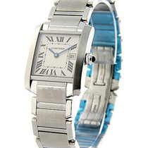 Cartier W51011Q3 Tank Francaise Mid Size in Steel - on Steel...