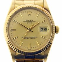 Rolex Date 15037 14k Yellow Gold Riveted Oyster Band