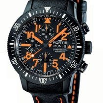 Fortis B-42 Mars 500 Chrono Auto Wr 200m Black Leather Strap...