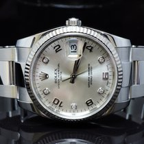Rolex 2012 34mm Oyster Perpetual Date, Diamond Dot, Box &...