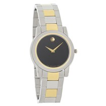 Movado Junior Sport Mens Two-Toned Swiss Quartz Watch 0605107
