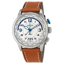 Vulcain Aviator Cricket Beige Dial Men's Hand Wound Watch