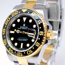 Rolex GMT-Master II 18k Gold Steel & Ceramic Mens Watch...