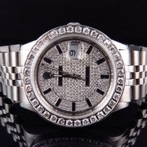 Rolex Mens Stainless Steel Rolex Datejust Jubilee 36 MM with...