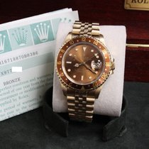 Rolex Root Beer Gmt Master Ii 16718 18k Yellow Gold Box &...