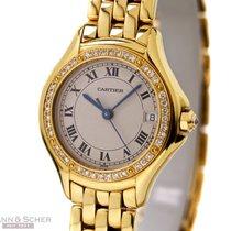 Cartier Cougar 26mm 18k Yellow Gold Diamond Bezel Papers Bj-1995