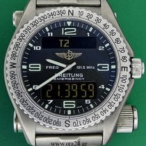 Breitling Emergency 43mm Chrono GMT Titanium Calendar Box&...