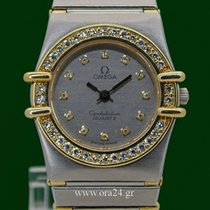 Omega Constellation Lady 18k Gold Steel Full Diamonds