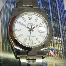 Rolex Datejust II Stainless Steel White Index Dial Mens...