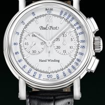 Paul Picot NEW TECHINCUM Steel-White Dial Black Leather Strap