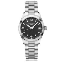 Longines Conquest Classic Automatic Stainless Steel Black Dial...