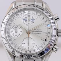 Omega Speedmaster Chronograph Triple Day Date Calender silver