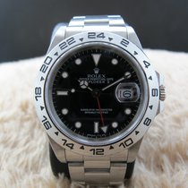Rolex EXPLORER 2 16550 Black Dial with Fat Font Bezel