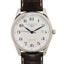 浪琴 (Longines) Master Stainless Steel Silvery White Automatic...