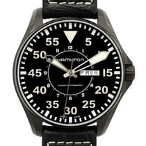 汉米尔顿 (Hamilton) Khaki Aviation Pilot Stainless Steel Black...