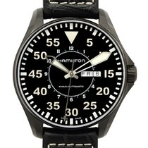 Hamilton Khaki Aviation Pilot Stainless Steel Black Automatic...