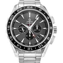 Omega Seamaster Aqua Terra Chronograph GMT Grey Dial Men's...