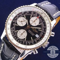 Breitling Old Navitimer II Gold Bezel & Crocodile Band