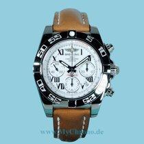 Breitling Chronomat 41 weiß Roman Lederband -NEU-