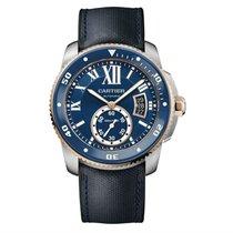 Cartier Calibre de Cartier Diver Watch Blue Ceramic Blue Strap