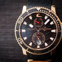 Ulysse Nardin Maxi Marine Diver Black Surf 18k Rose Gold Power...