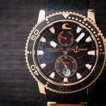 Ulysse Nardin Maxi Marine Diver Black Surf 18k Rose Gold Power...