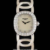 Patek Philippe 18k W/G MOP Dial Diamond Set Ellipse Ladies 4931
