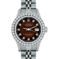 Rolex Datejust Ladies' 26mm Brown And Black Champagne Dial...