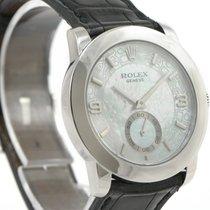 Rolex Cellini Cellinium 5240 Platinum Mother Of Pearl MOP 35mm...