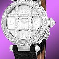 "Cartier ""Diamond Pasha 32mm"" Strapwatch."
