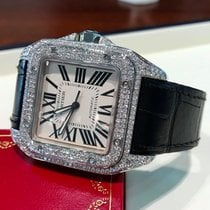 Cartier Santos 100 XL Steel Diamonds 51 x 40 mm (Full Set)