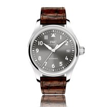 IWC Pilot Automatic Stainless Steel Grey Dial Mens Watch IW324001