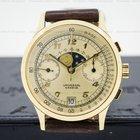 宇宙 (Universal Genève) Vintage Moonphase Chronograph 18K Yellow...
