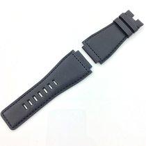 Bell & Ross Uhren Armband BR 01 - 03 Leder  Gr. L  schwarz