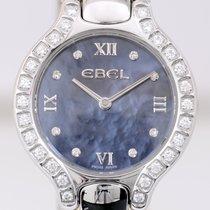 Ebel Beluga Round Diamonds Lady blue Mother of Pearls roman...