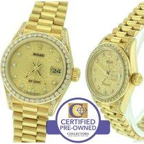 Rolex DateJust President 26mm Diamond 69158 18K Yellow Gold Watch