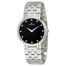 Movado Faceto Black Dial Stainless Steel Men's Watch