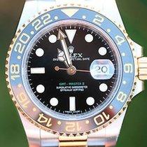 Rolex Mens 40mm Gmt Ii 18k Gold & Steel Ceramic 116713...