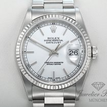 Rolex Datejust 16234 Stahl Weissgold 750 Automatik 36mm Date Just