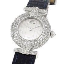 Cartier 18K White Gold 1981 w Custom Diamond Setting