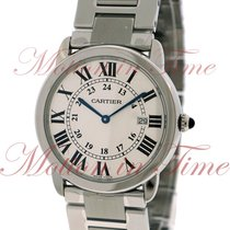 Cartier Ronde Solo Large Quartz, Silver Dial - Stainless Steel...