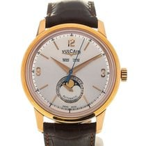 Vulcain 50s Presidents' Moon Phase 42 Pink Gold Silver-ton...