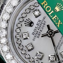 Rolex Lady's Rolex 31mm Datejust White Mop Mother Of Pearl...