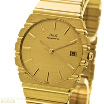 Piaget Polo Man Size Ref-15661C 701 18k Yellow Gold Box Papers...