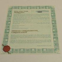 Rolex Warranty Certificate Ref: 18239