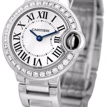 Cartier WE9003Z3 Ballon Bleu Diamonds Women's 18KT White...