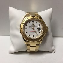 Rolex Yacht Master 18k Yellow Gold White Dial