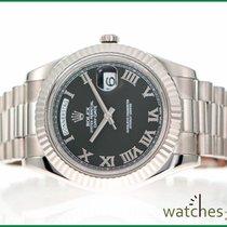 Rolex Day-Date II whitgold deutsch Wempe 2012 B & P 41 mm