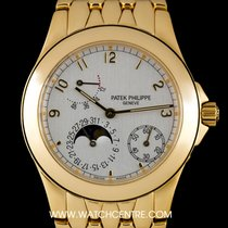 Patek Philippe 18k Yellow Gold Silver Dial Neptune Gents...
